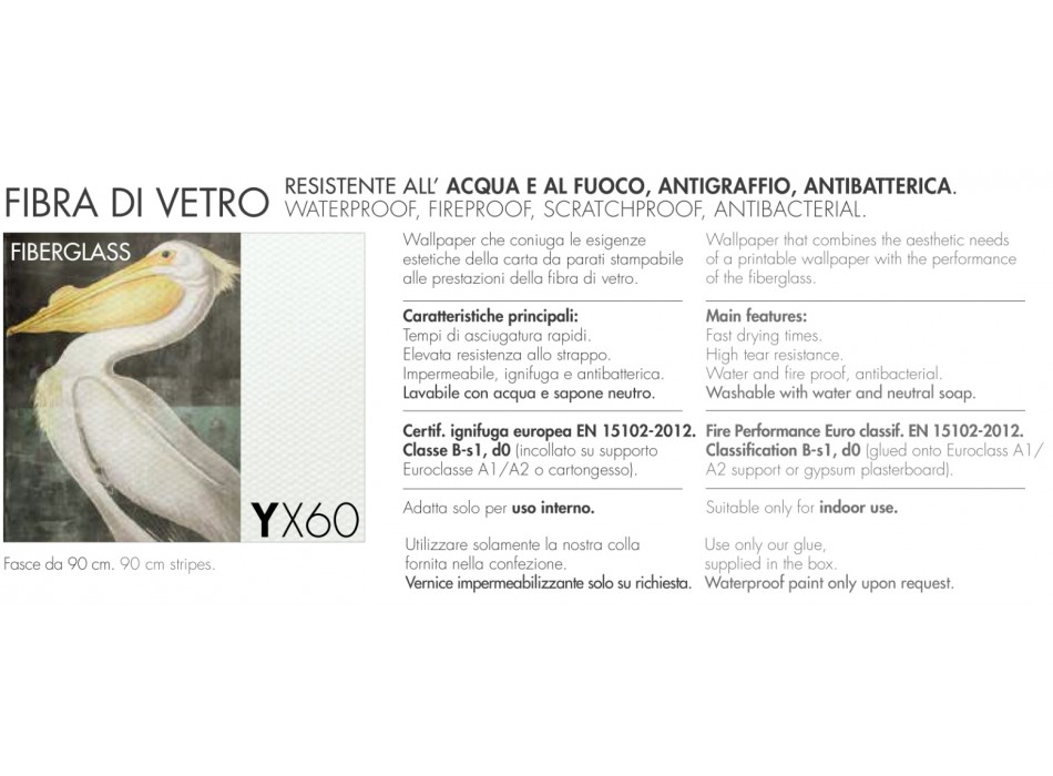 CARTA DA PARATI FIBRA DI VETRO ADRIANI & ROSSI