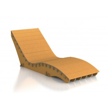 SCLBOU CHAISE LOUNGUE DI DESIGN ECOLOGICO IN CARTONE ECOSOSTENIBILE